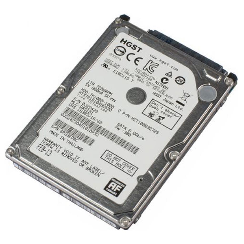 """Жесткий диск для ноутбука 2.5"""" 1TB Hitachi HGST (0J22423 / HTS721010A9E630) изображение 4"""