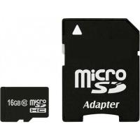 Карта памяти eXceleram 16Gb microSDHC class 10 с адаптером SD (MSD1610A)