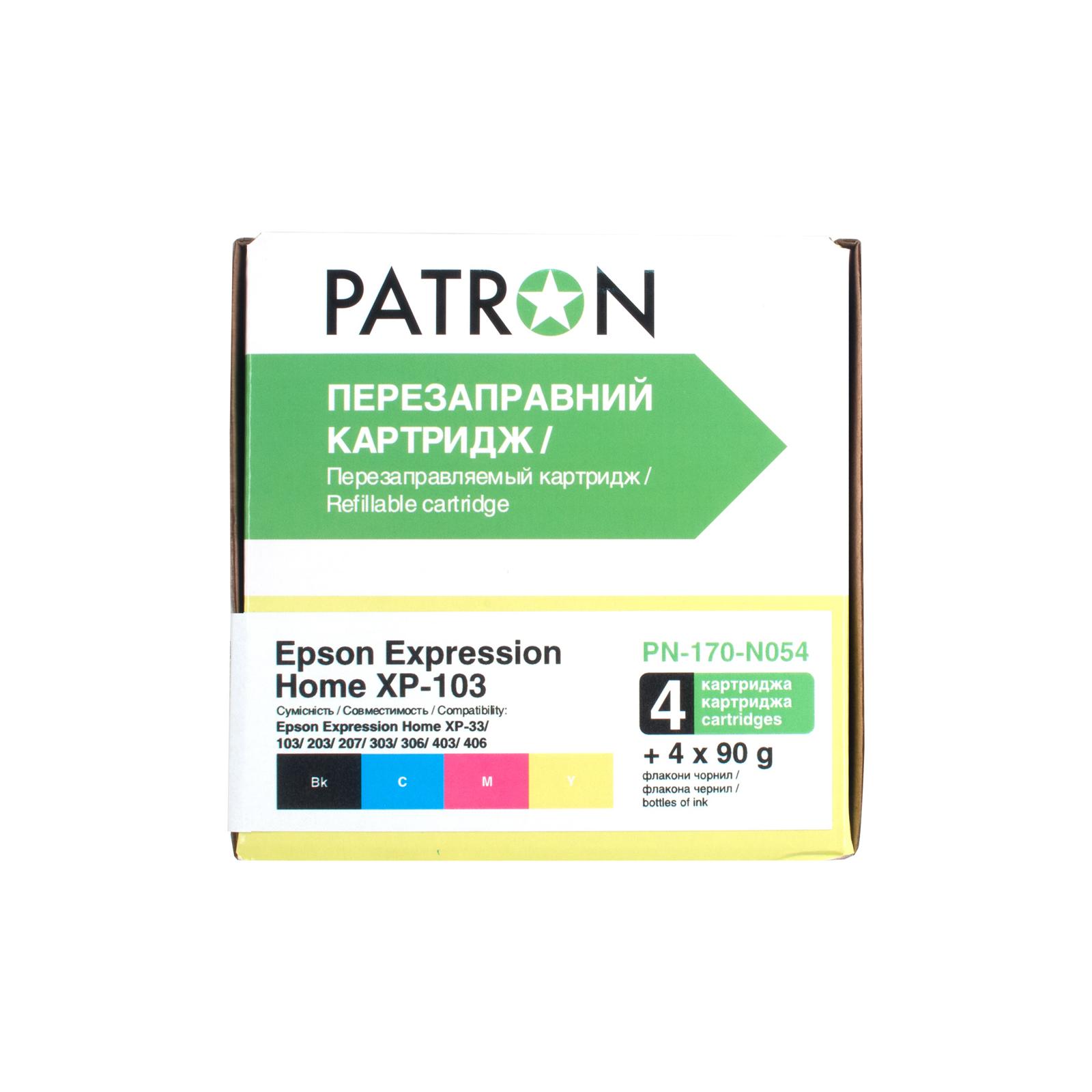 Комплект перезаправляемых картриджей PATRON Epson XP-33/103/203/207/303/306/403/406 (CIR-PN-ET170-054) изображение 2