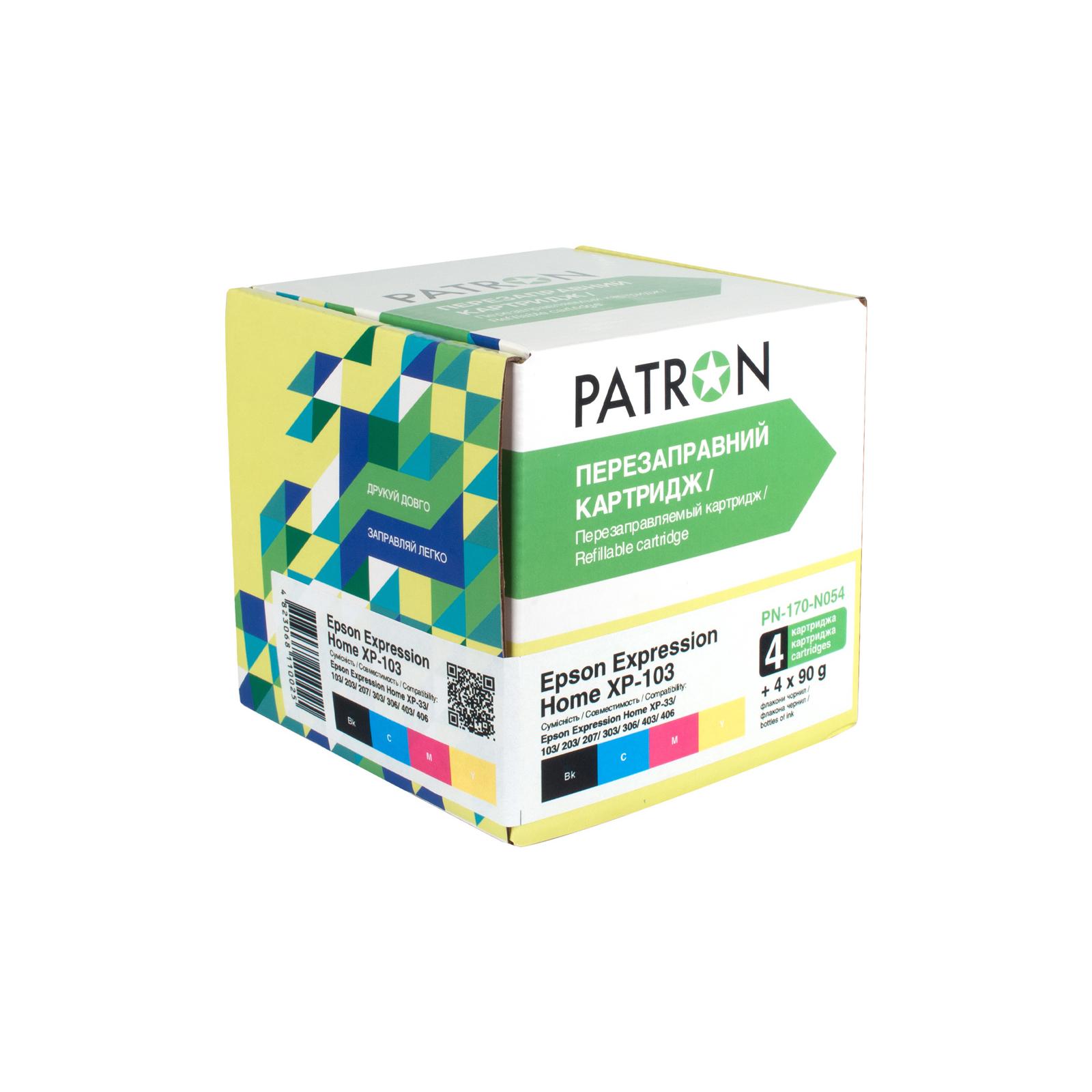 Комплект перезаправляемых картриджей PATRON Epson XP-33/103/203/207/303/306/403/406 (CIR-PN-ET170-054)