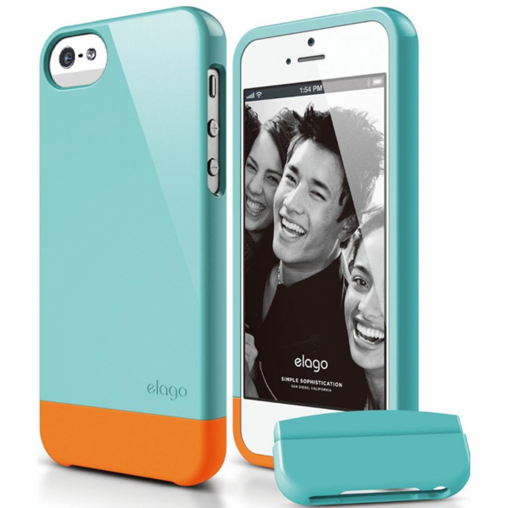 Чехол для моб. телефона ELAGO для iPhone 5 /Glide/Coral Blue (ELS5GL-UVCBL)