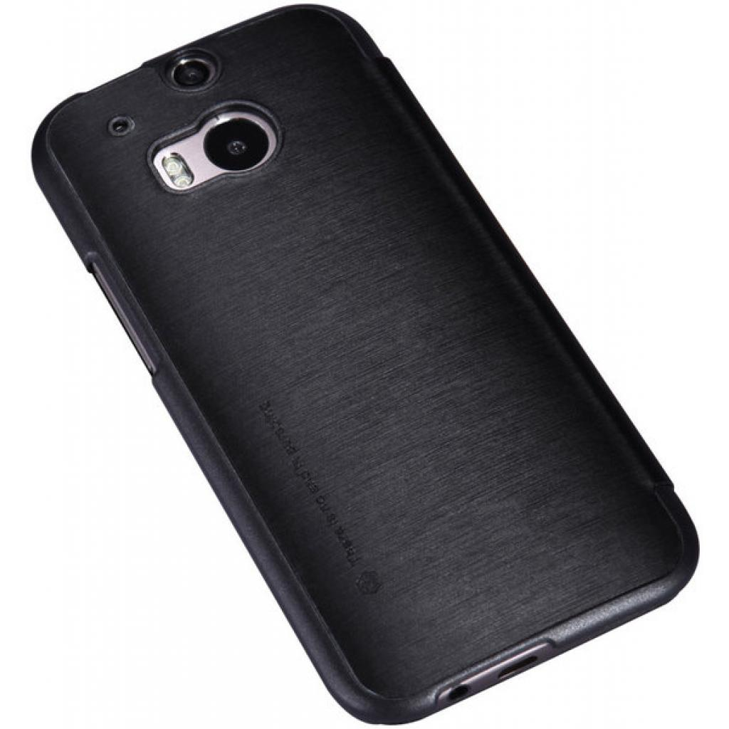 Чехол для моб. телефона для HTC ONE (M8) /Rain Leather Case/Black NILLKIN (6138252) изображение 4