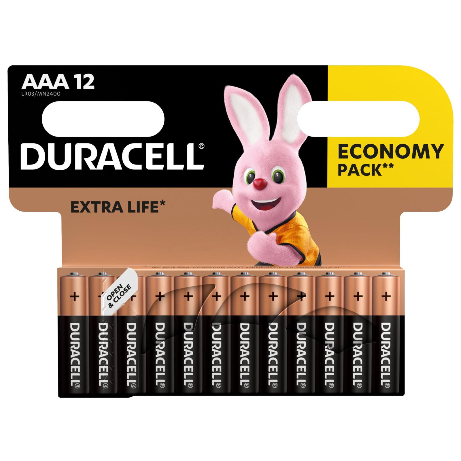 Батарейка Duracell AAA MN2400 LR03 * 12 (5000394109254 / 81545432) изображение 2