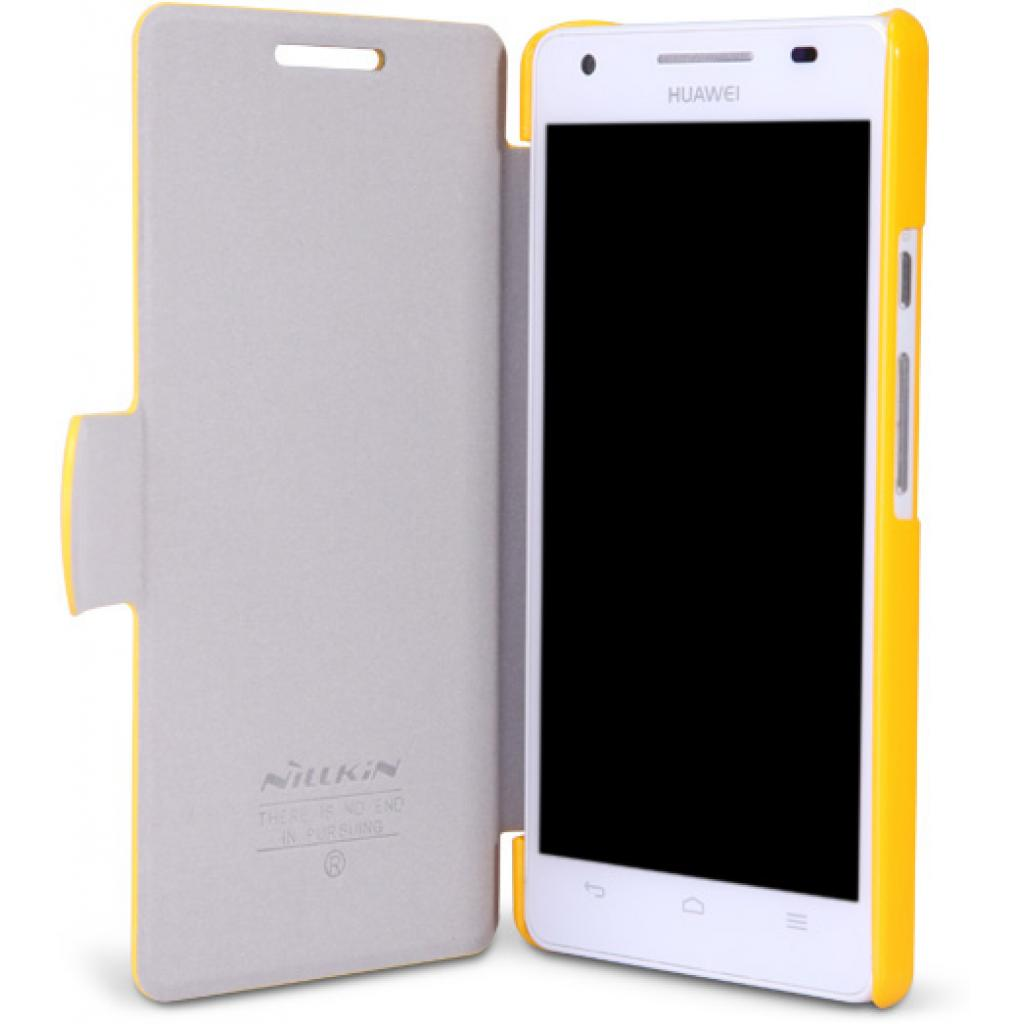 Чехол для моб. телефона NILLKIN для Huawei Honor III/Fresh/ Leather/Yellow (6129103) изображение 2