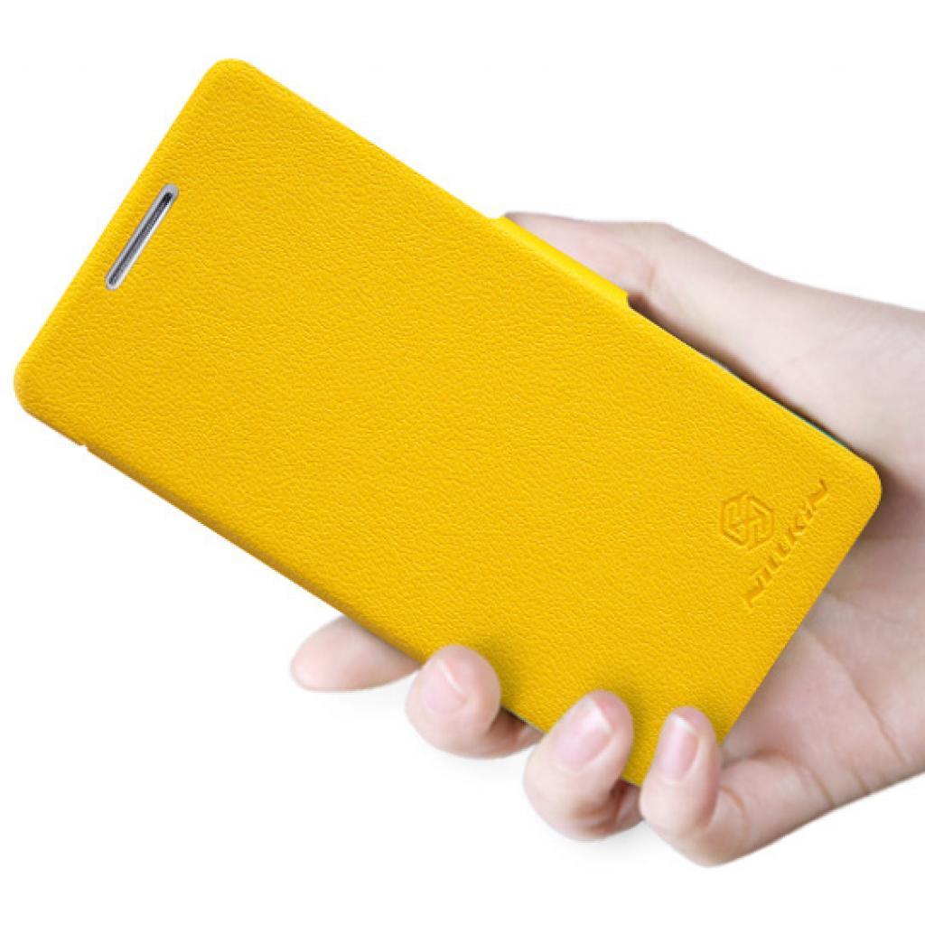 Чехол для моб. телефона NILLKIN для Huawei Honor III/Fresh/ Leather/Yellow (6129103) изображение 5