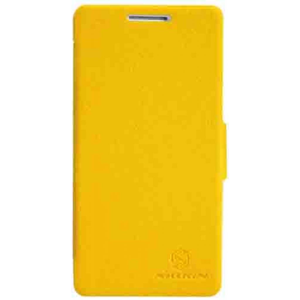 Чехол для моб. телефона NILLKIN для Huawei Honor III/Fresh/ Leather/Yellow (6129103)