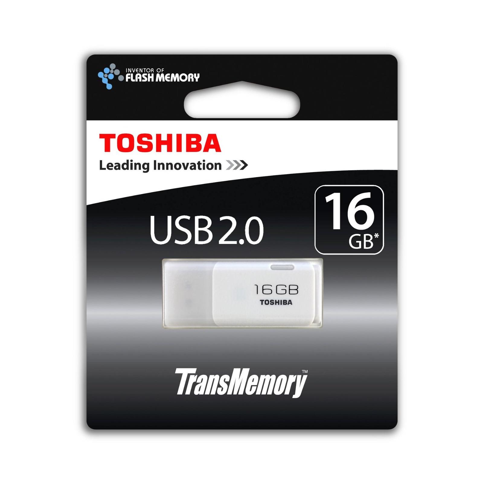 USB флеш накопитель TOSHIBA 16GB Hayabusa White USB 2.0 (THNU16HAYWHT(6)) изображение 3