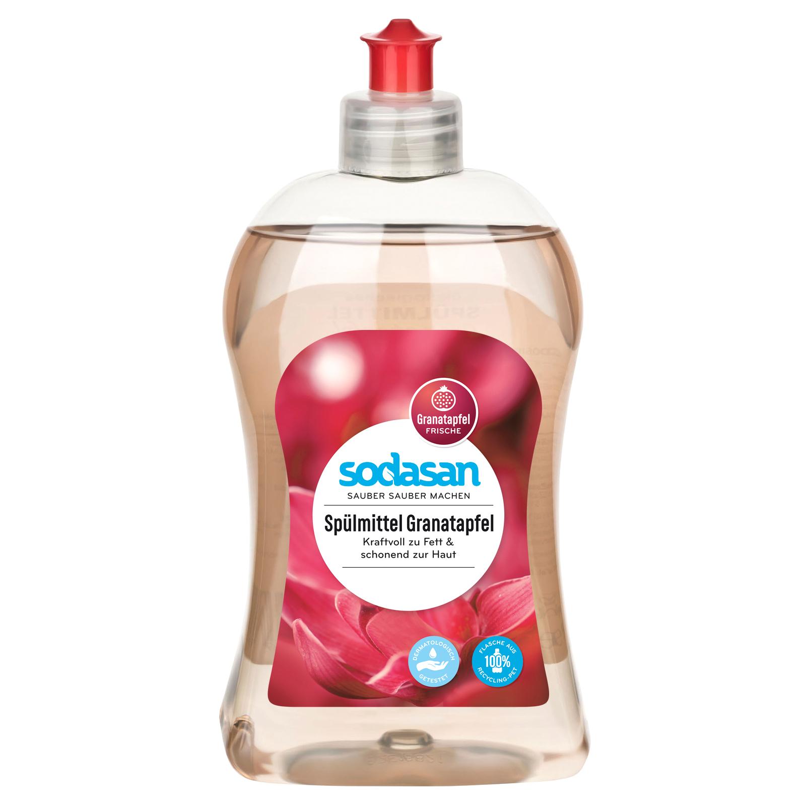 Средство для мытья посуды Sodasan органическое Гранат 500 мл (4019886022569)