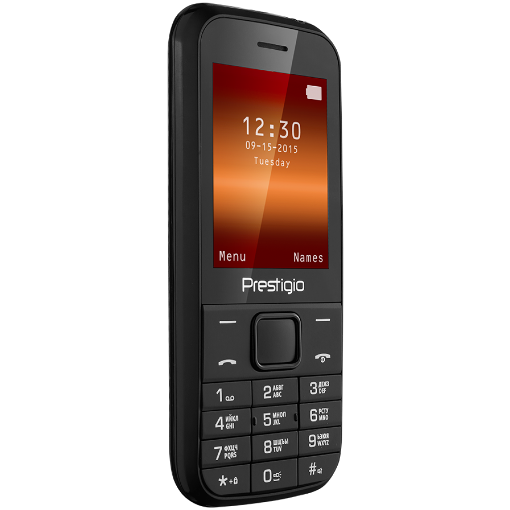 Мобильный телефон PRESTIGIO 1240 Duo Black (PFP1240DUOBLACK) изображение 3