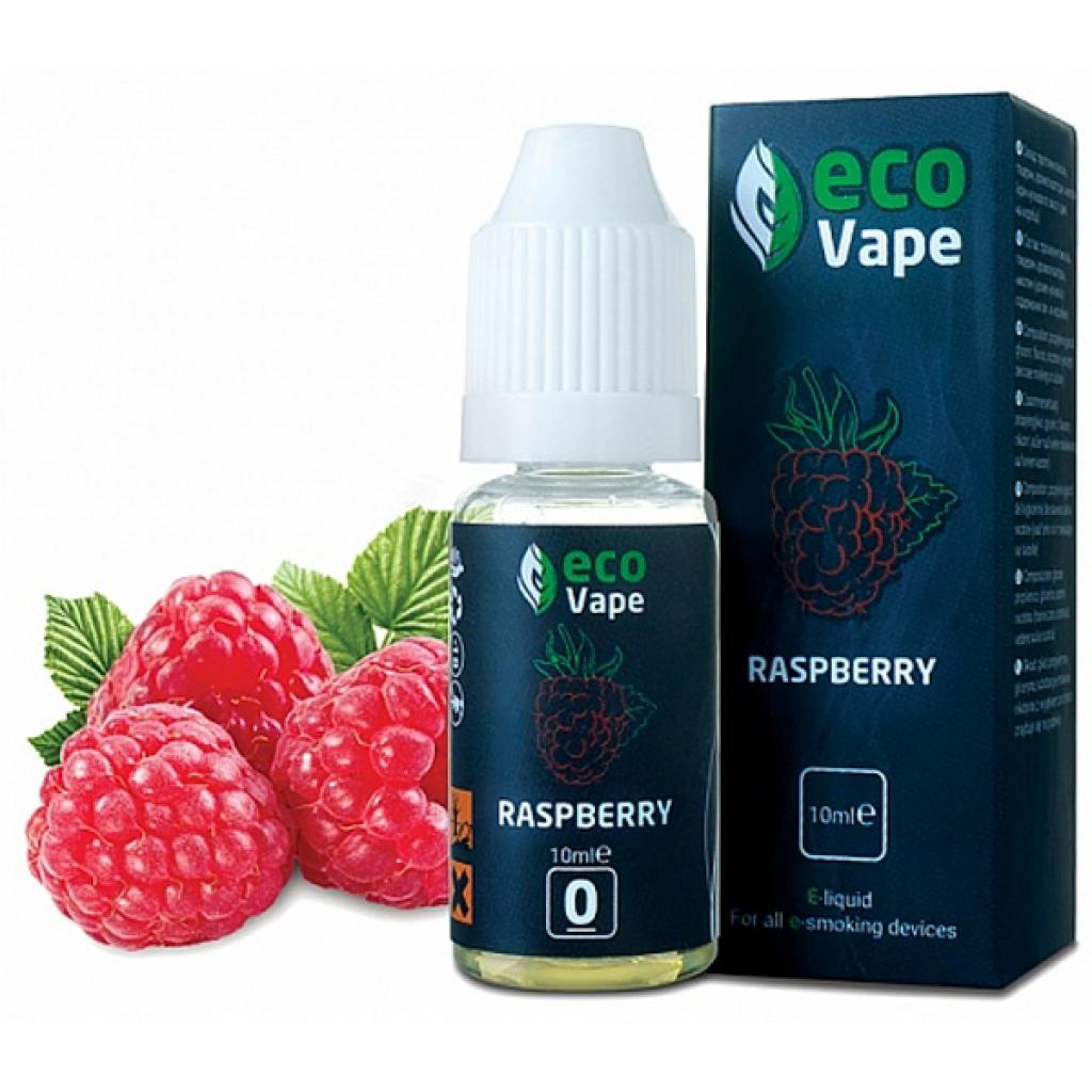 Жидкость для электронных сигарет ECO Vape Raspberries 0 мг/мл (LEV-RB-0)