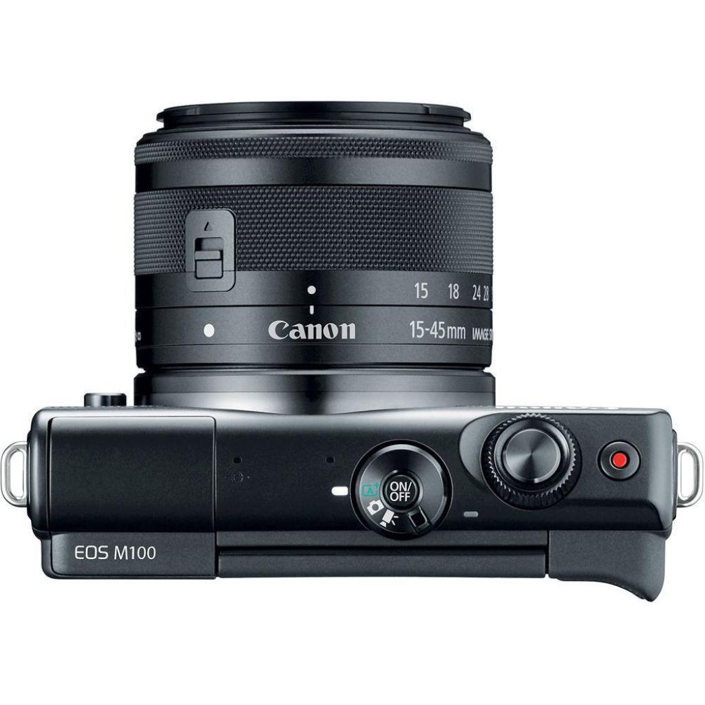 Цифровой фотоаппарат Canon EOS M100 + 15-45 IS STM Black (2209C048) изображение 4