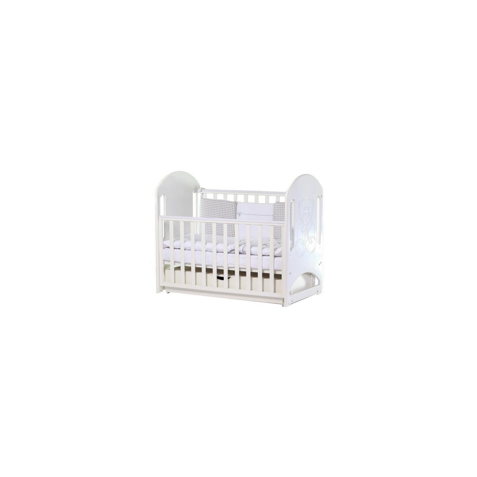 Кроватка Верес Соня ЛД-8 Белый декор.(ящ.+ маят.) (08.1.61.3.06)