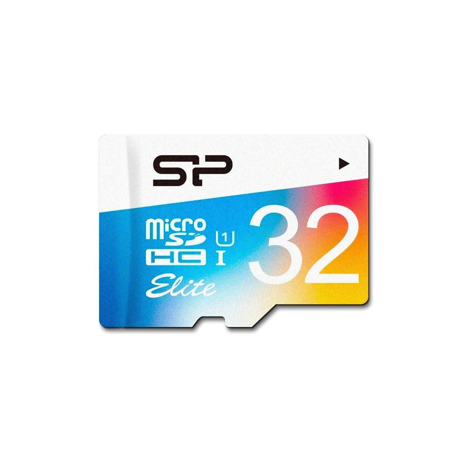Карта памяти Silicon Power 32GB microSDHC class 10 UHS-I Color (SP032GBSTHBU1V20)