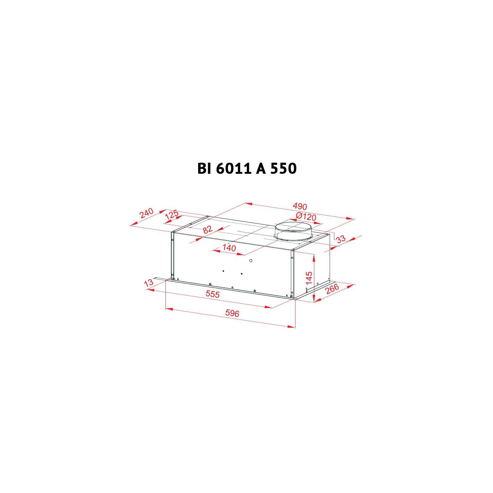 Вытяжка кухонная PERFELLI BI 6011 A 550 W изображение 6