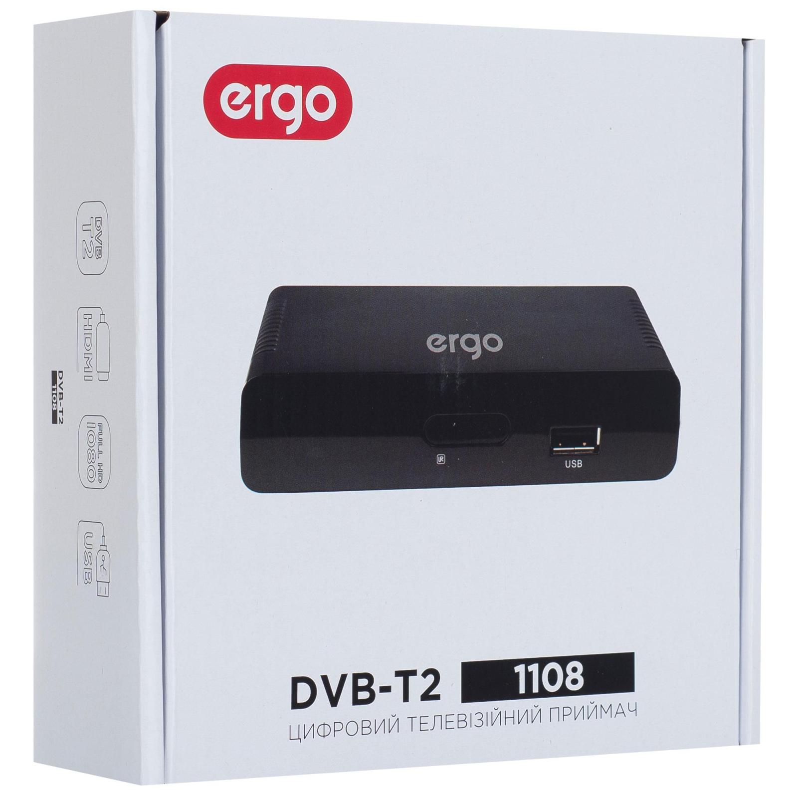 ТВ тюнер Ergo 1108 (DVB-T, DVB-T2) (STB-1108) зображення 10