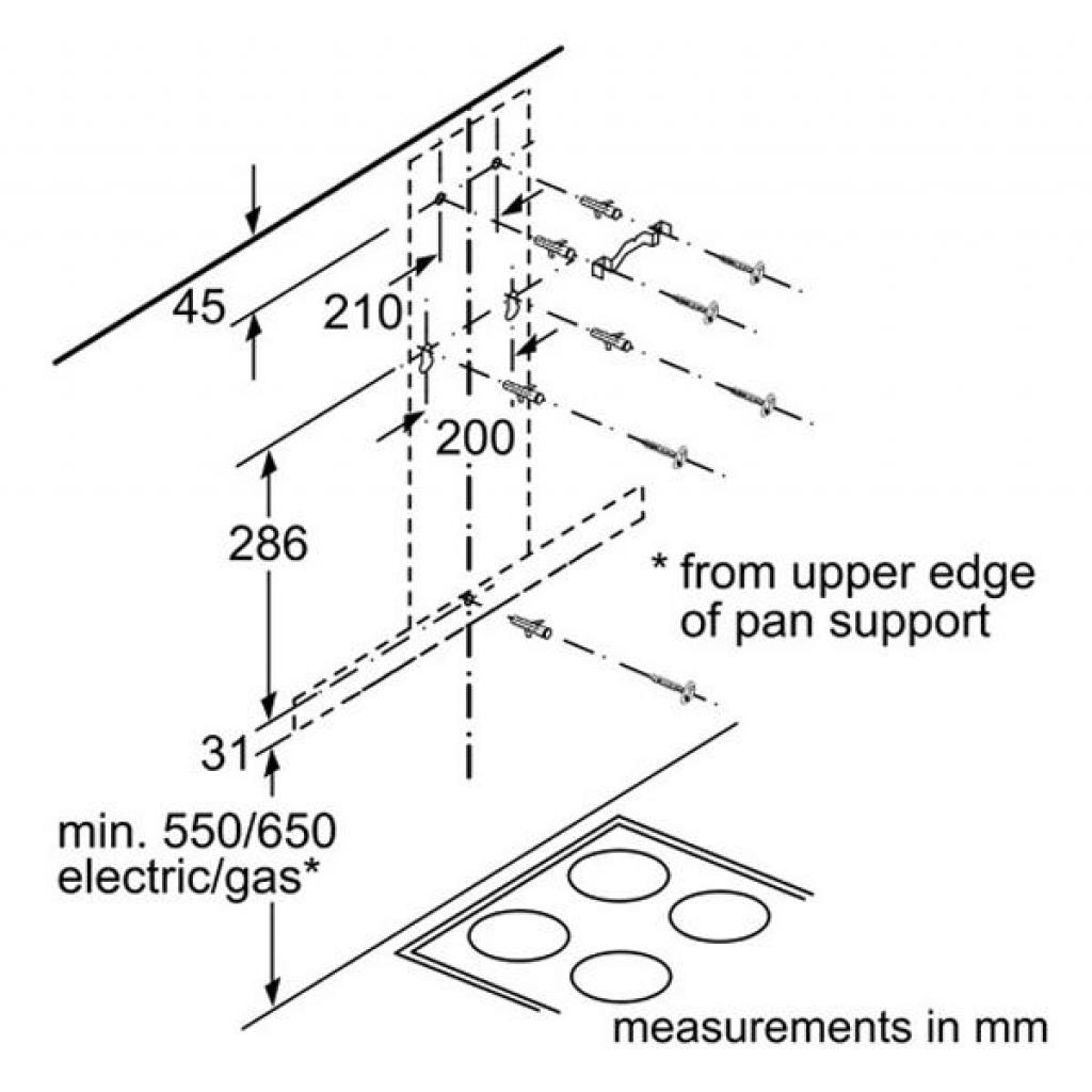 Вытяжка кухонная Bosch DWB66DM50 изображение 8