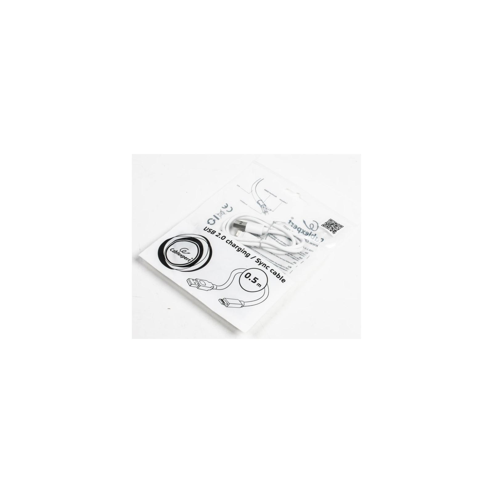 Дата кабель USB 2.0 AM to Lightning 0.5m Cablexpert (CC-USB2-AMLM-W-0.5M) изображение 2