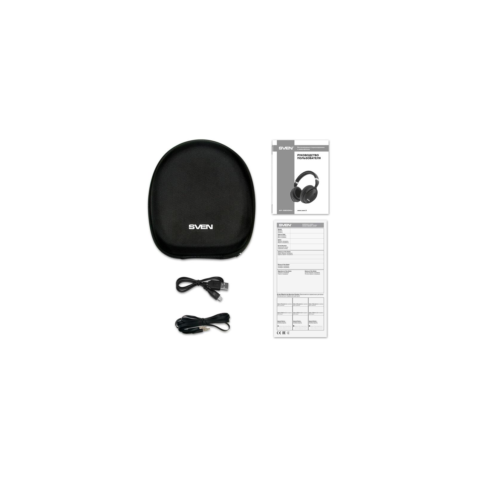 Наушники Sven AP-B900MV Black Bluetooth (AP-B900MV black) изображение 10