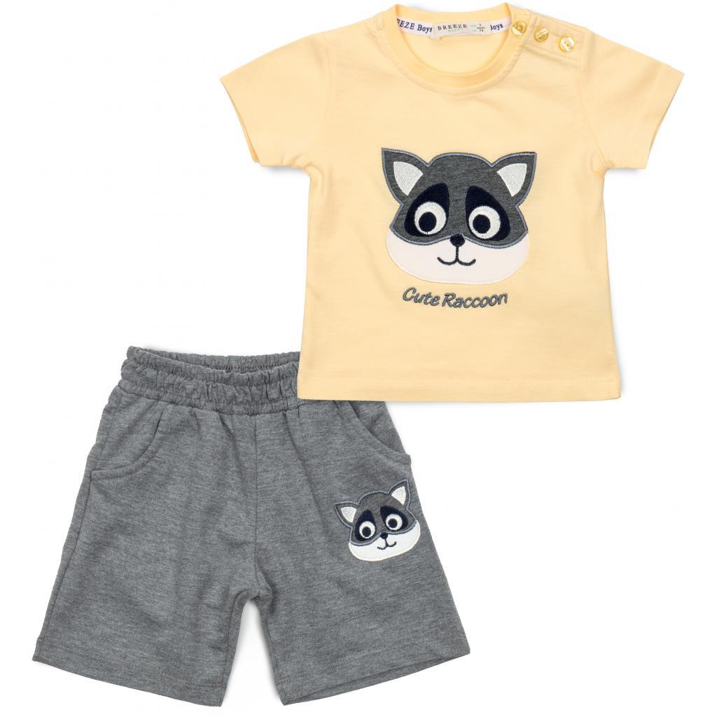 Набор детской одежды Breeze с енотом (15775-74B-yellow)