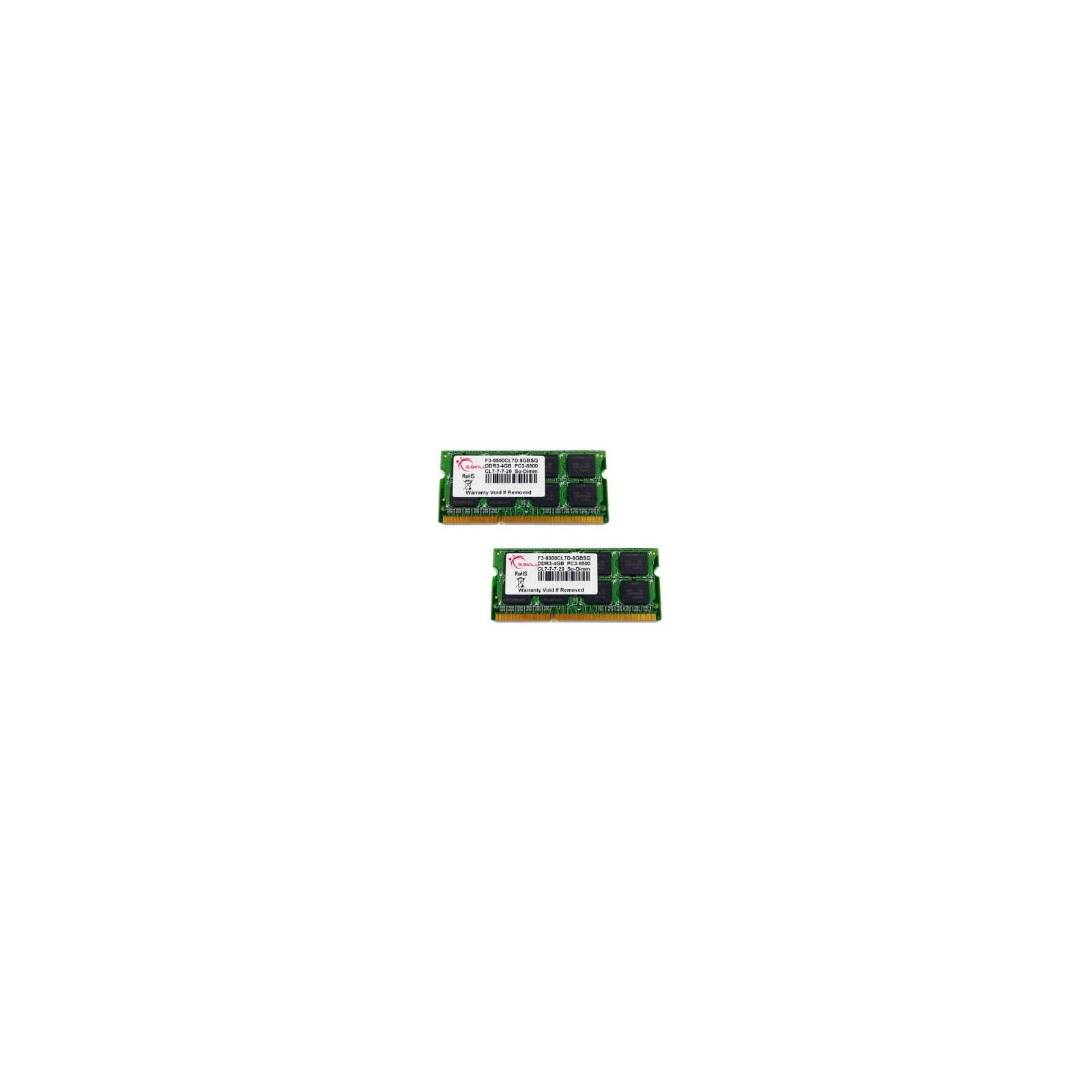 Модуль памяти для ноутбука SoDIMM DDR3 8GB (2x4GB) 1066 MHz G.Skill (F3-8500CL7D-8GBSQ)