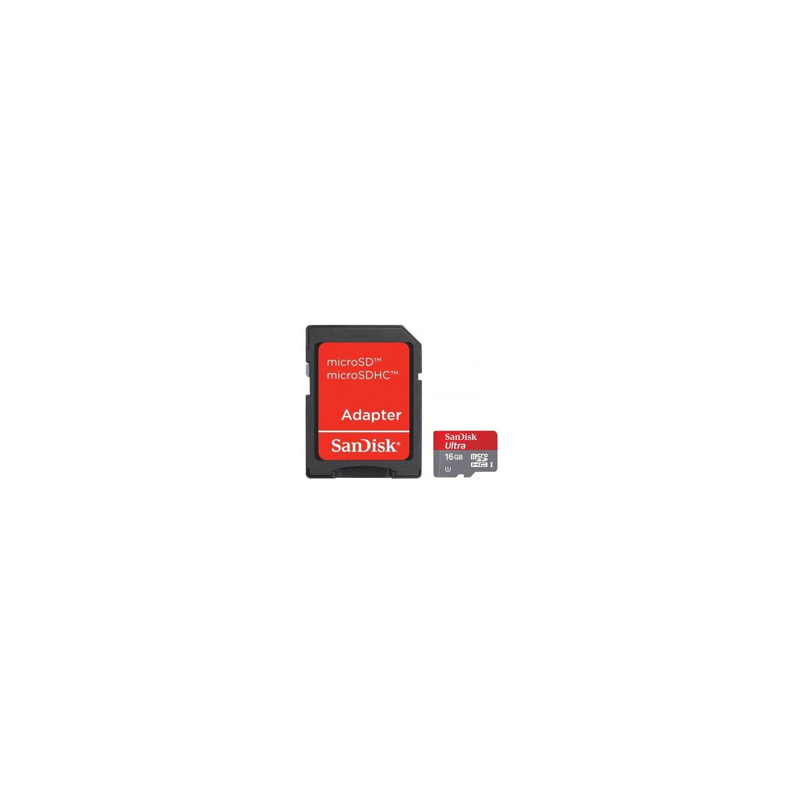 Карта памяти SANDISK 16Gb microSDHC Ultra UHS-I (SDSDQU-016G-U46A)