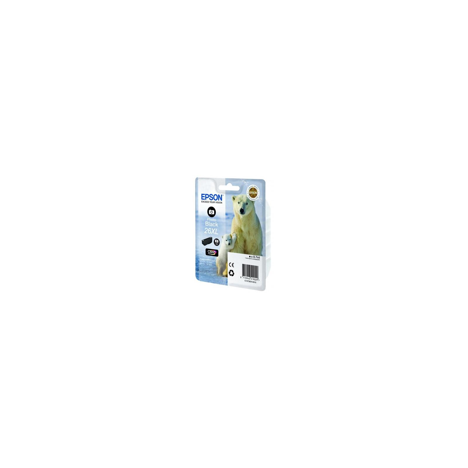 Картридж EPSON 26XL XP600/605/700 black (C13T26314010)