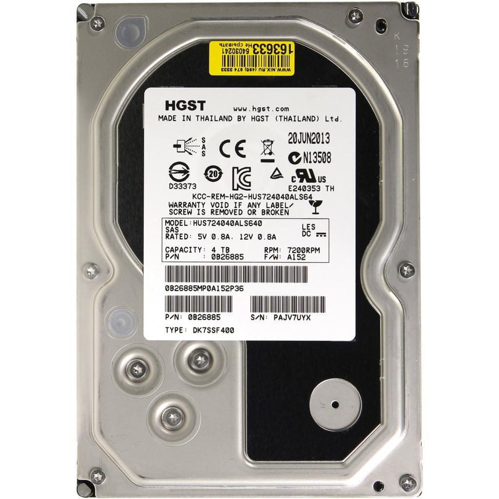 Жесткий диск для сервера 4TB Hitachi HGST (0B26885 / HUS724040ALS640)