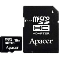 Карта памяти Apacer microSDHC Class4 16GB w/ 1 Adapter RP (AP16GMCSH4-R)