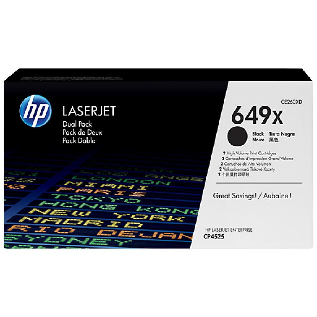 Картридж HP CLJ CP4525dn/4525n/4525xh black DUAL PACK (CE260XD)