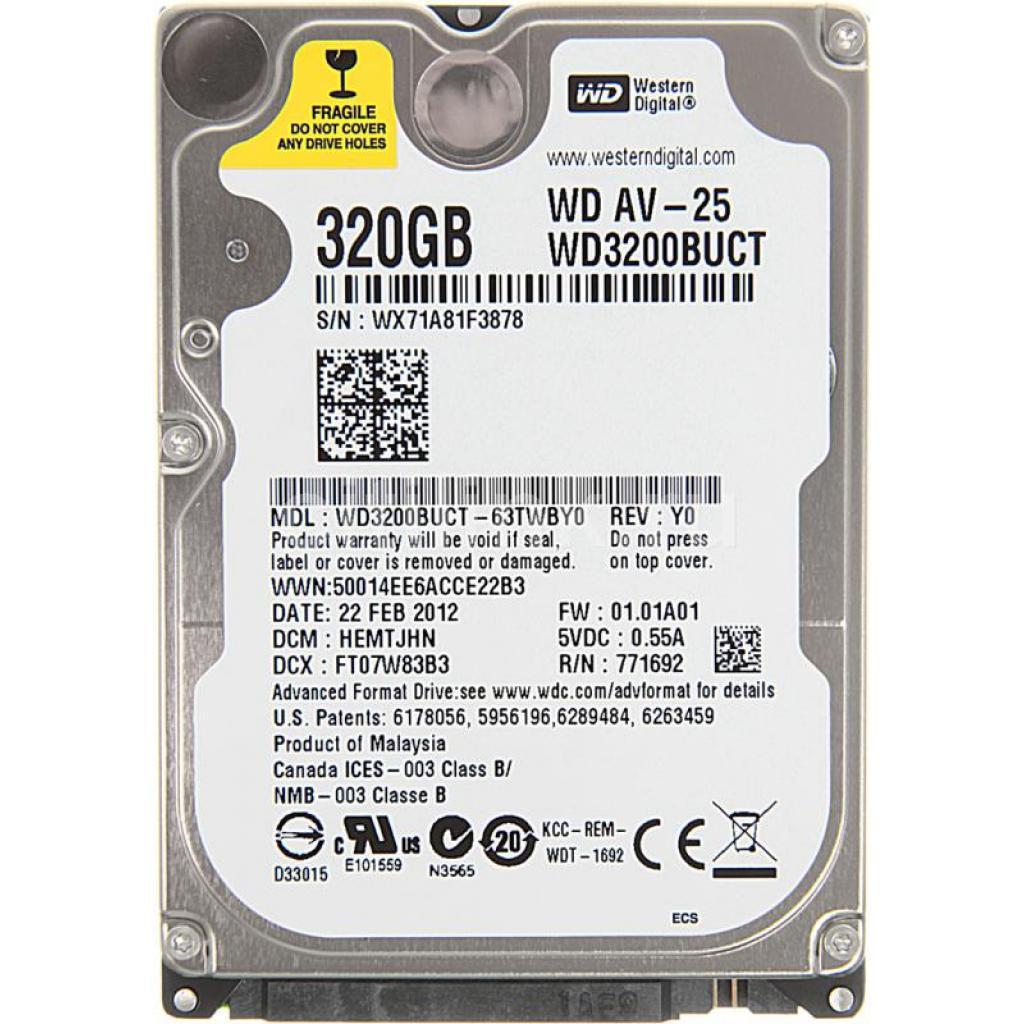 "Жесткий диск для ноутбука 2.5"" 320GB Western Digital (WD3200BUCT)"