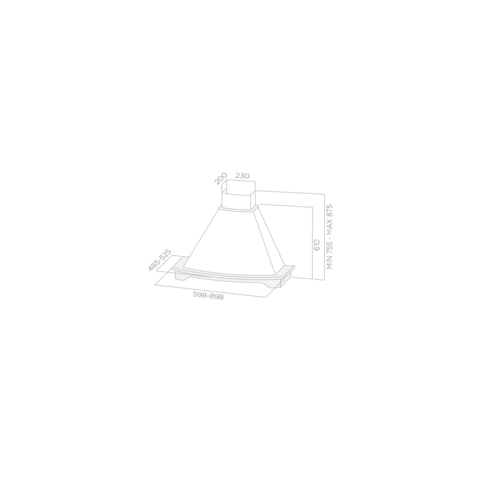 Вытяжка кухонная Elica CORALINE WH/A/90 T.GREZZO изображение 2