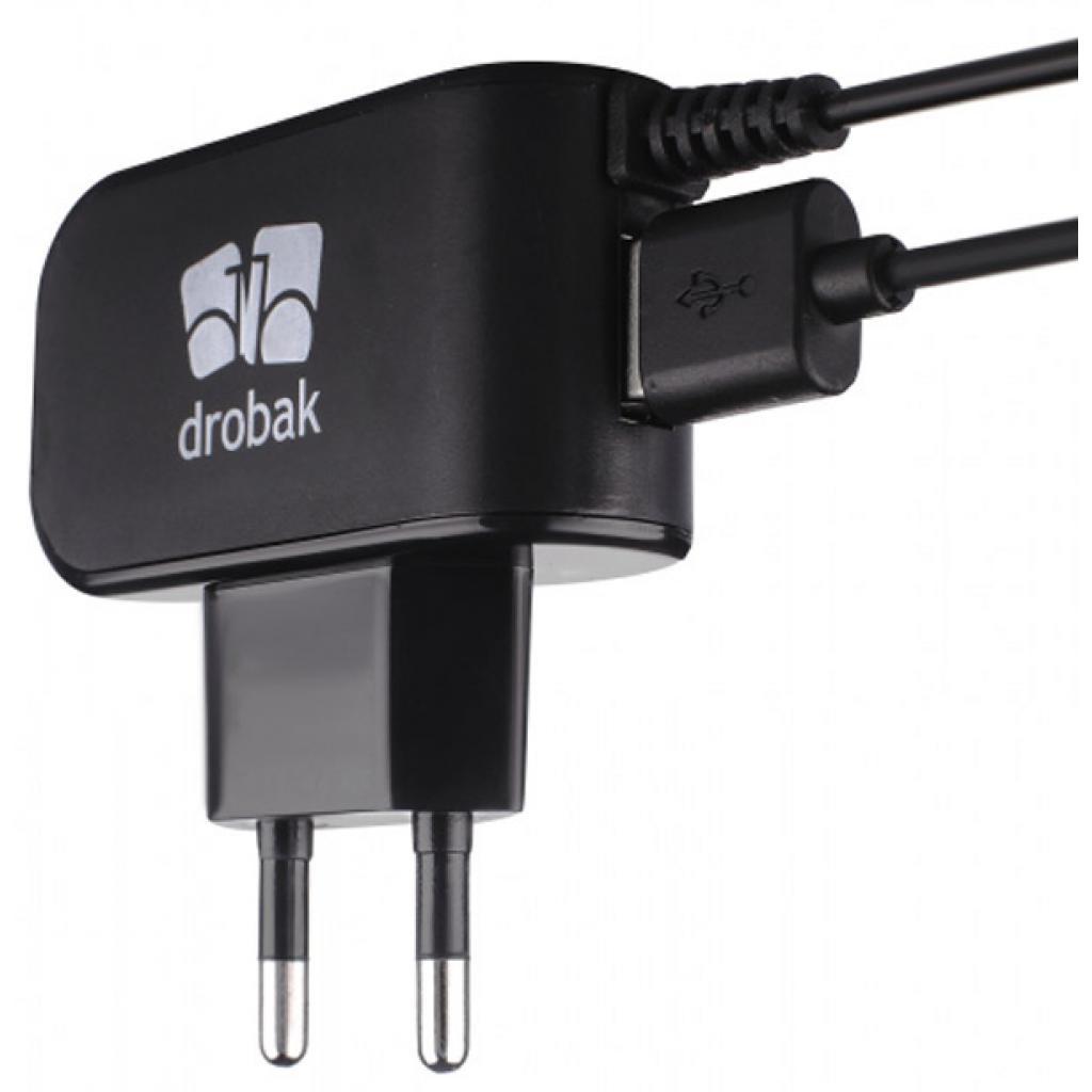 Зарядное устройство Drobak Cable Charger 220V-USB (Black) 5V, 1A (905315) изображение 4