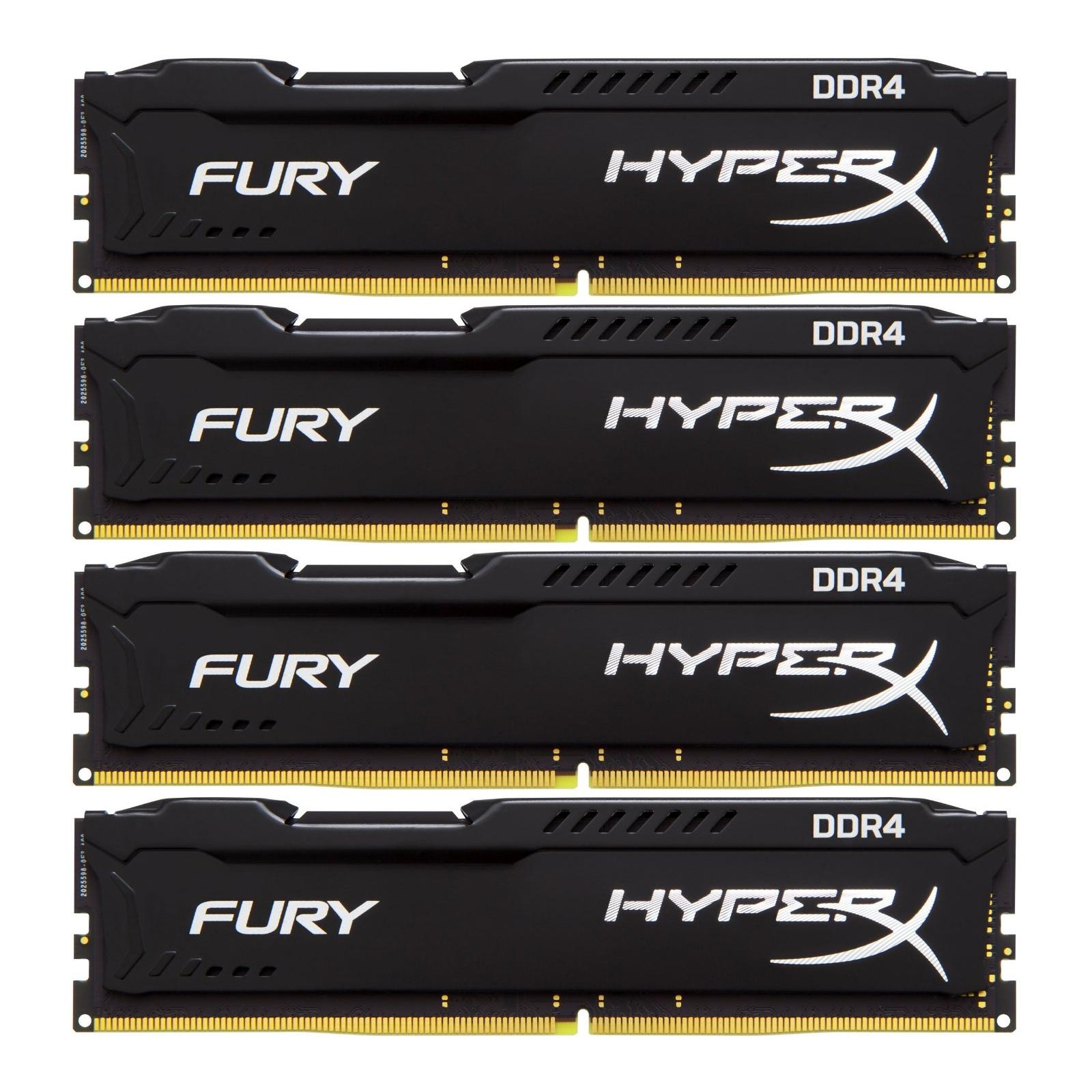 Модуль памяти для компьютера DDR4 32GB (4x8GB) 2133 MHz HyperX FURY Black Kingston (HX421C14FB2K4/32)