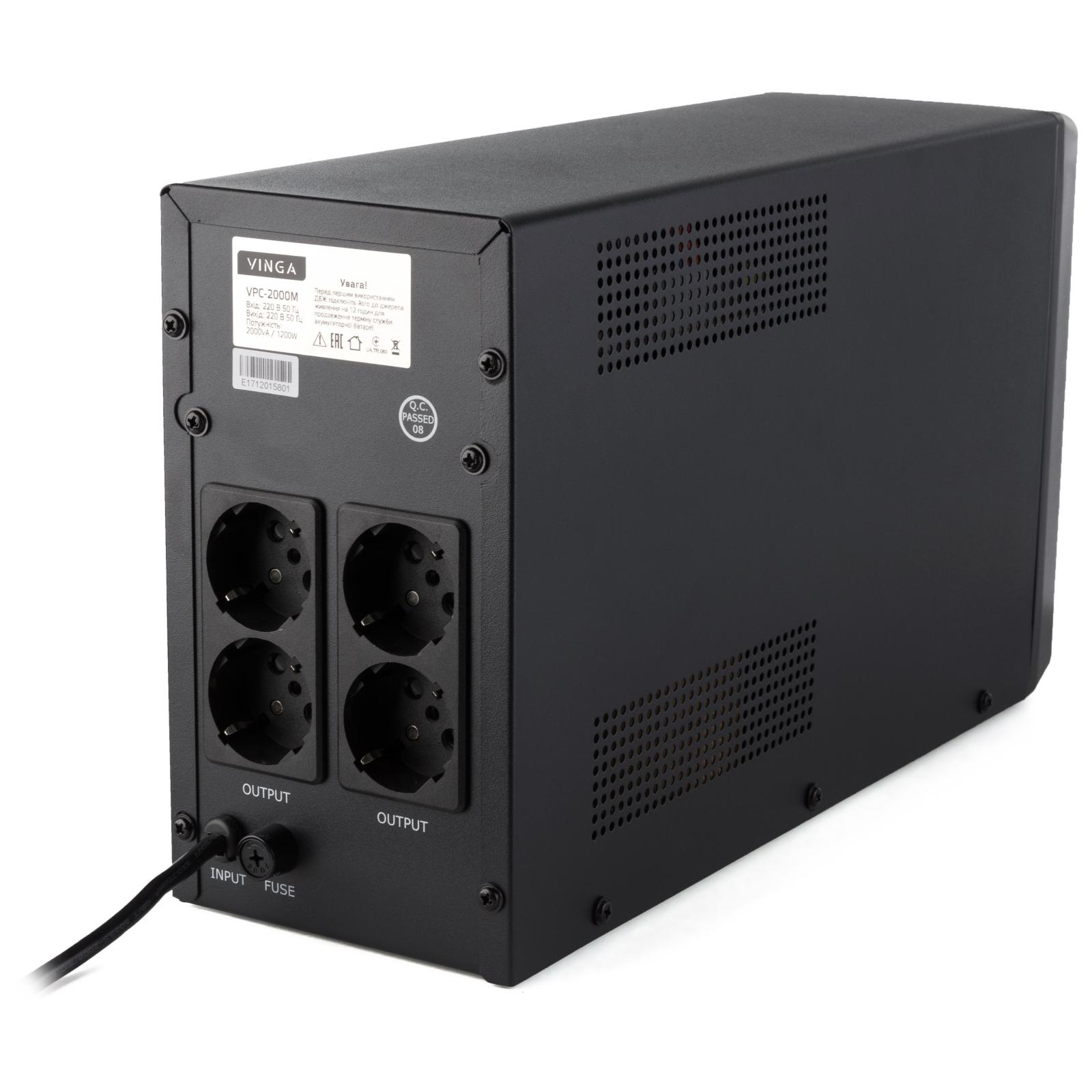 Источник бесперебойного питания Vinga LCD 2000VA metall case (VPC-2000M) изображение 9