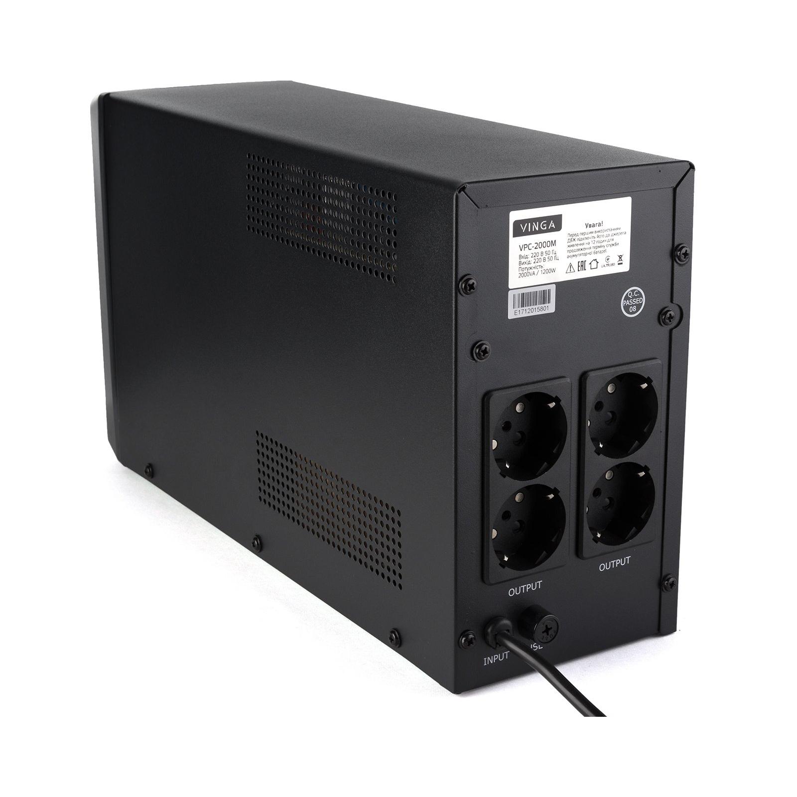 Источник бесперебойного питания Vinga LCD 2000VA metall case (VPC-2000M) изображение 10