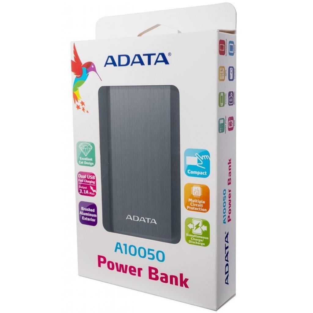 Батарея универсальная ADATA A10050 10050mAh Golden (AA10050-5V-CGD) изображение 5