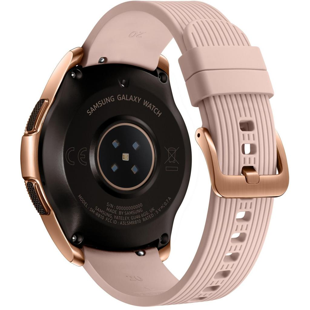 Смарт-часы Samsung SM-R810 Galaxy Watch 42mm Gold (SM-R810NZDASEK) изображение 4