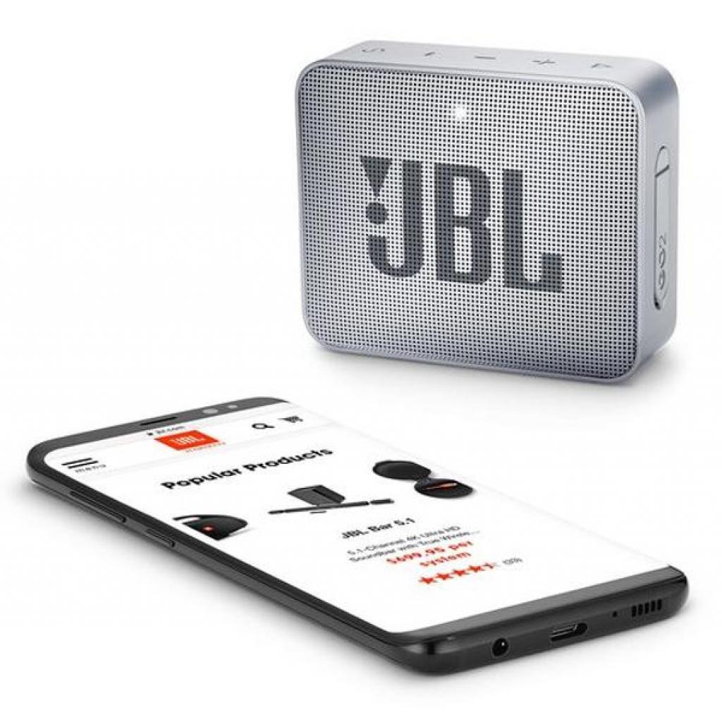 Акустическая система JBL GO 2 Gray (JBLGO2GRY) изображение 6