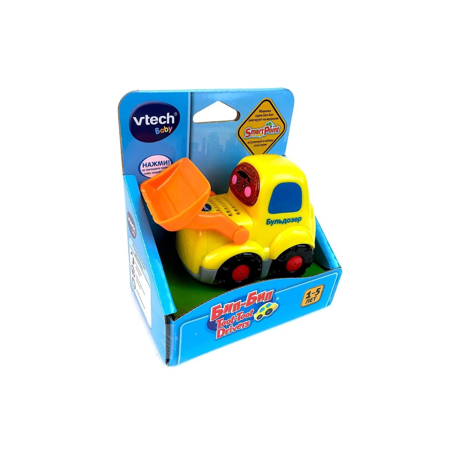 Развивающая игрушка VTech Бип-Бип Бульдозер со звуковыми эффектами (80-151826) изображение 2
