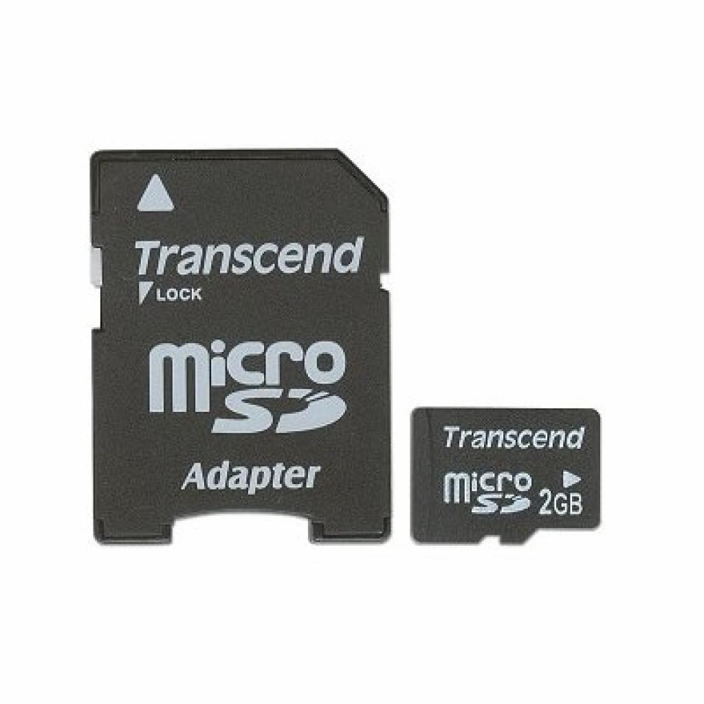 Карта памяти 2Gb microSD Transcend (TS2GUSD)