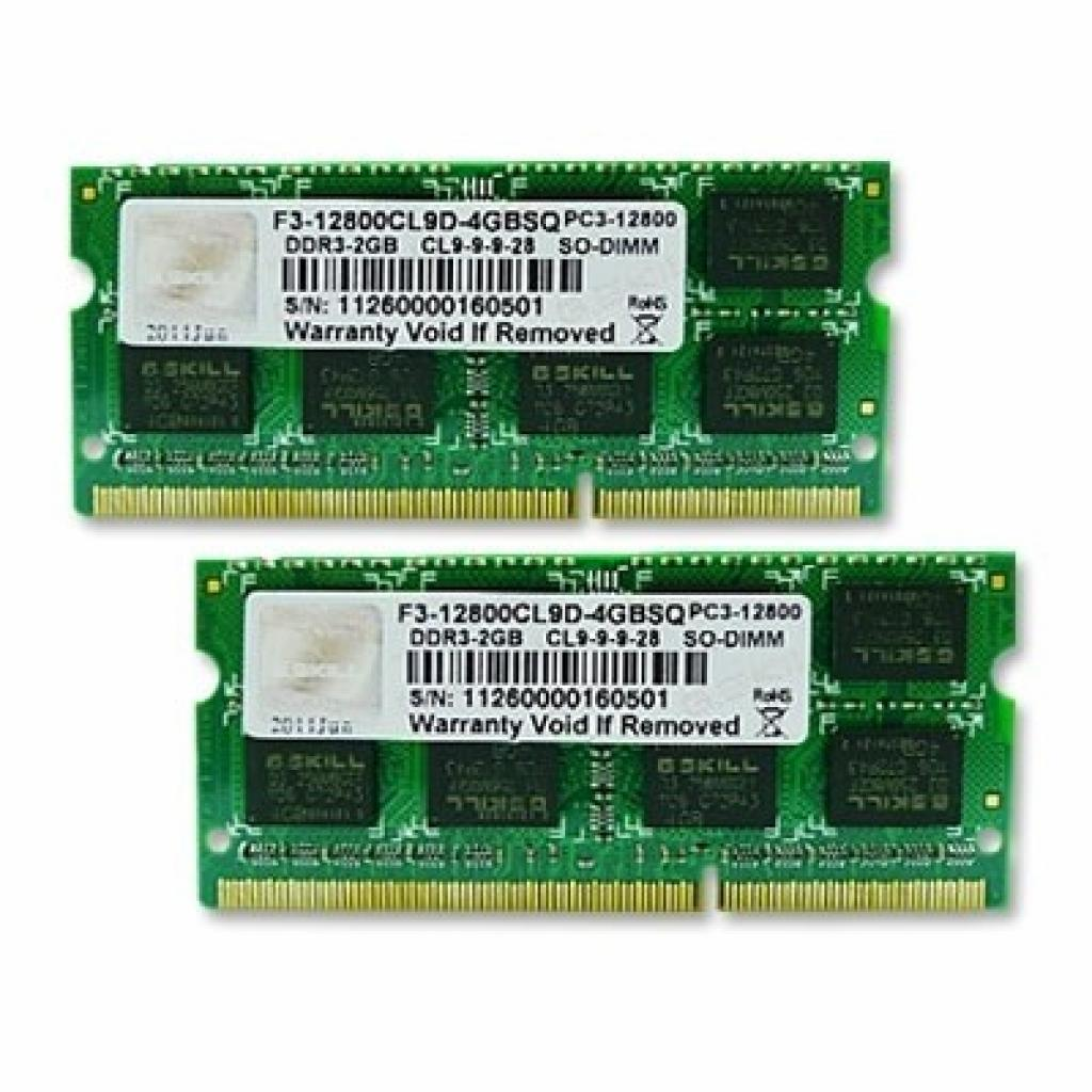 Модуль памяти для ноутбука SoDIMM DDR3 8GB (2x4GB) 1600 MHz G.Skill (F3-12800CL9D-8GBSQ)