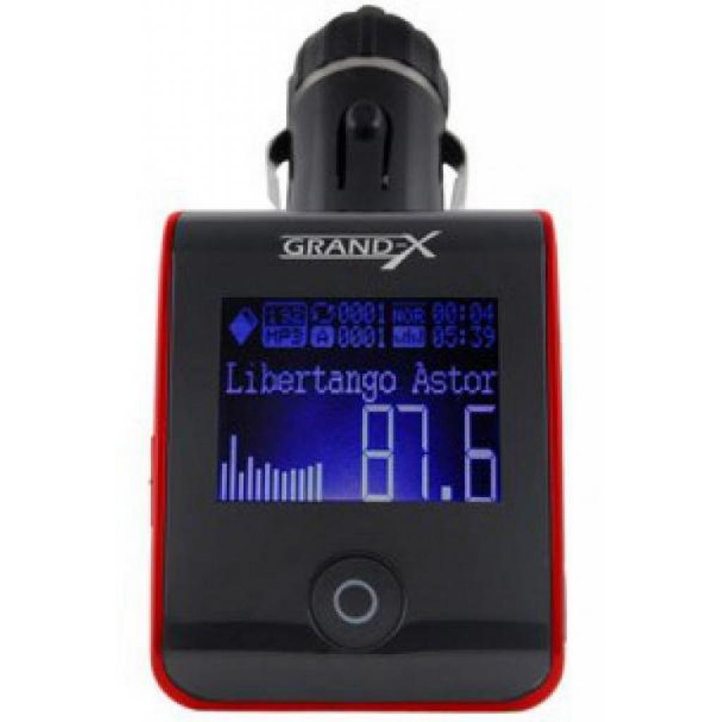 Автомобильный MP3-FM модулятор Grand-X CUFM24GRX red SD/USB (CUFM24GRX red) изображение 4