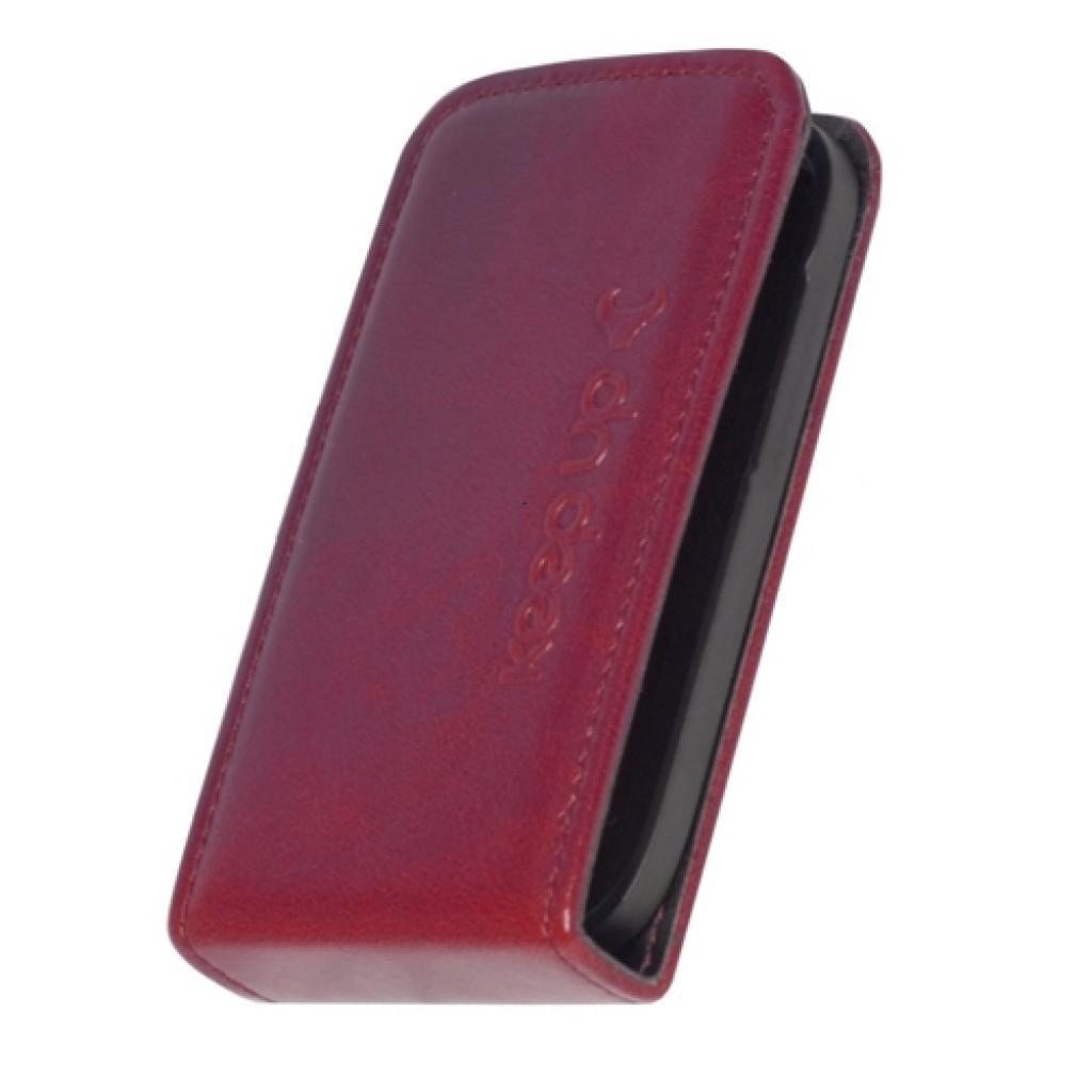 Чехол для моб. телефона KeepUp для Samsung I9192 Galaxy SIV mini Duos Cherry/FLIP (00-00009986) изображение 2