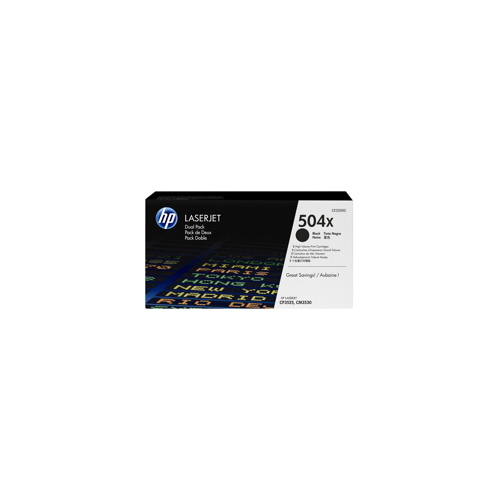 Картридж HP CLJ CM3530/ CP3525 Black DUAL PACK (CE250XD)