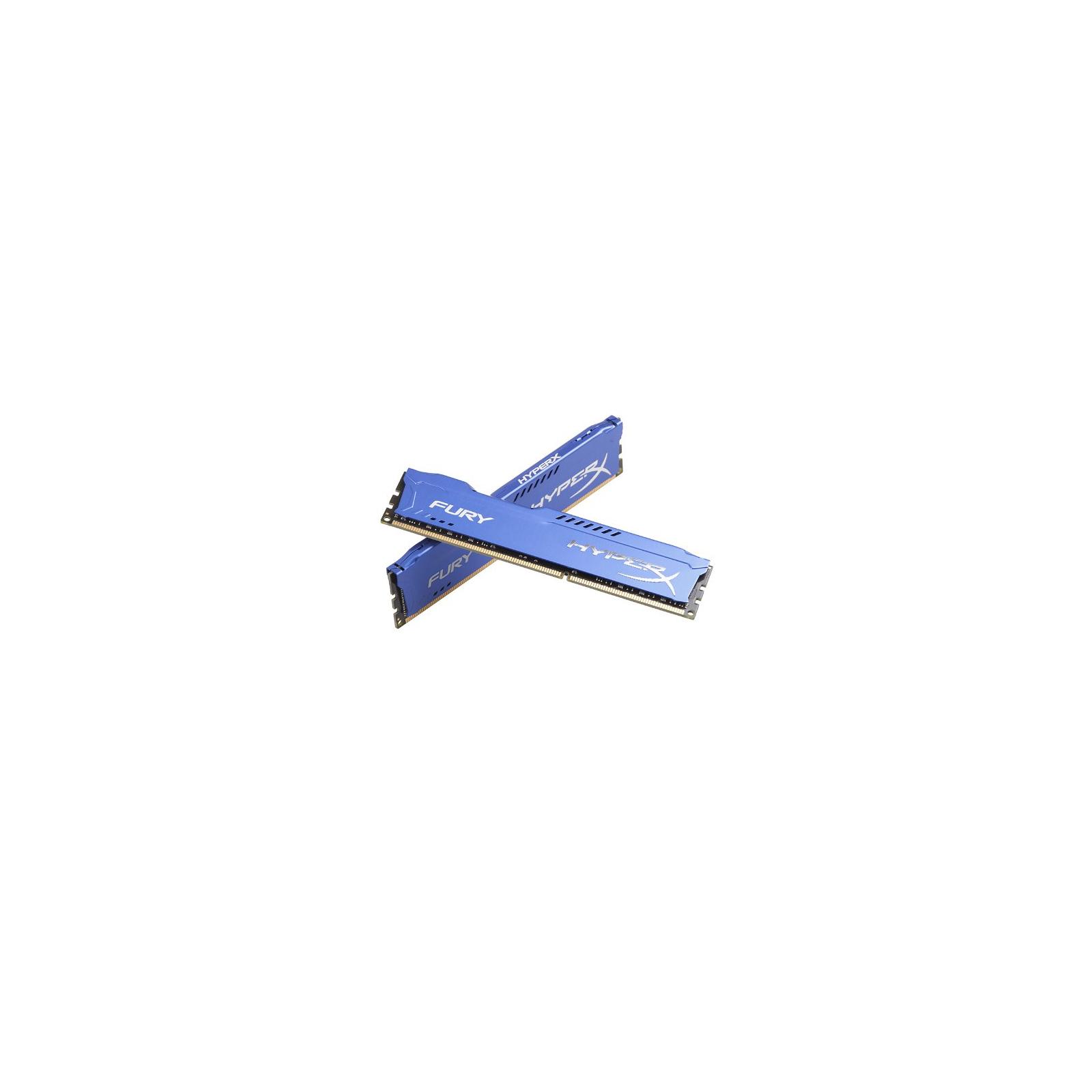 Модуль памяти для компьютера DDR3 8Gb (2x4GB) 1600 MHz HyperX Fury Blu Kingston (HX316C10FK2/8) изображение 3