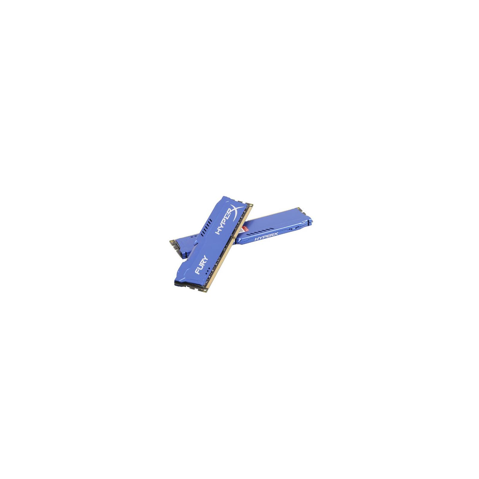 Модуль памяти для компьютера DDR3 8Gb (2x4GB) 1600 MHz HyperX Fury Blu Kingston (HX316C10FK2/8) изображение 5