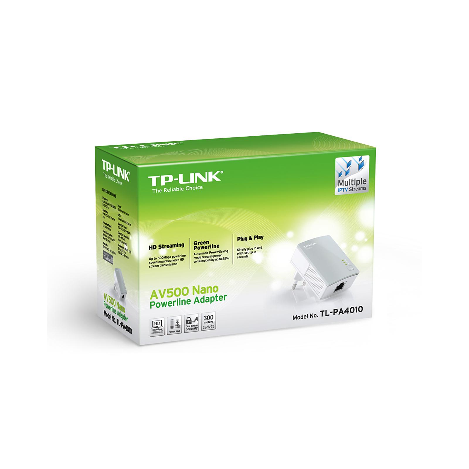 Адаптер Powerline TP-Link TL-PA4010 изображение 6