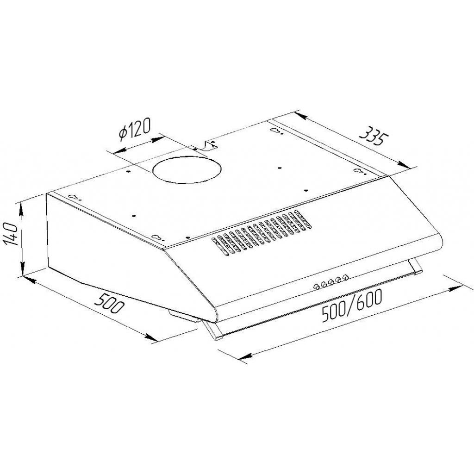 Вытяжка кухонная Pyramida MH 50 GR изображение 10
