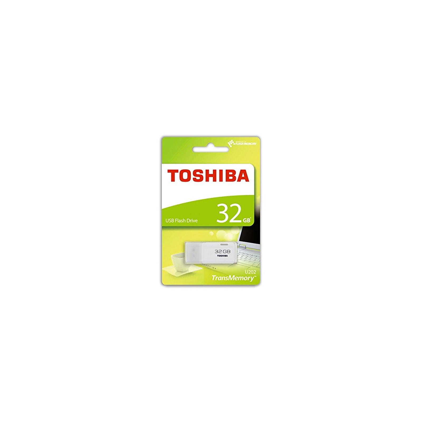 USB флеш накопитель TOSHIBA 32GB Hayabusa White USB 2.0 (THN-U202W0320E4) изображение 3