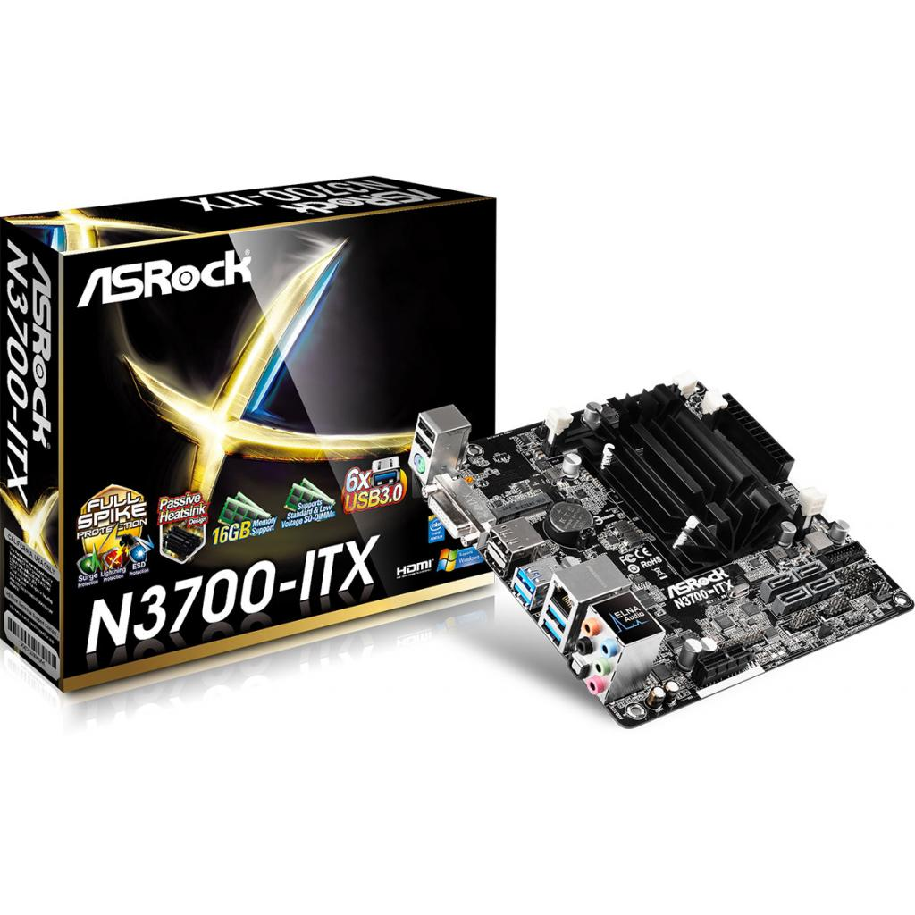 Материнская плата ASRock N3700-ITX